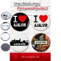 Presumede…Ajalvir. Pack 4 chapas/4 abridores con imán/ 4 espejos ó 4 imanes.