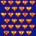 Camiseta  Superman superletras
