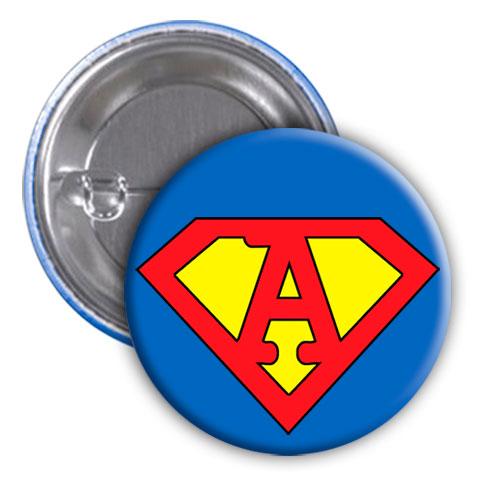 Chapa superhéroe. Súper...A