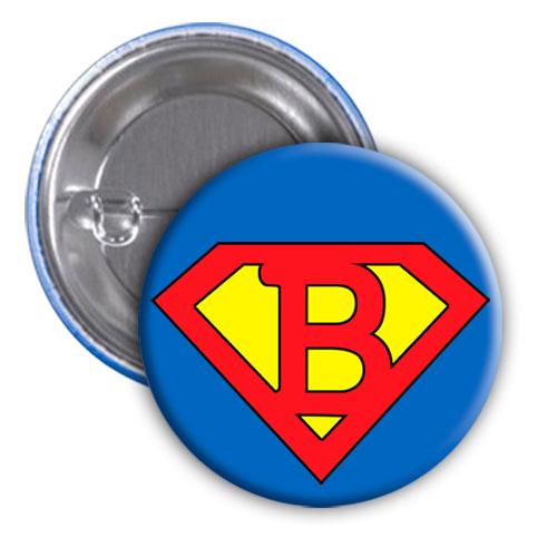 Chapa superhéroe. Súper...B