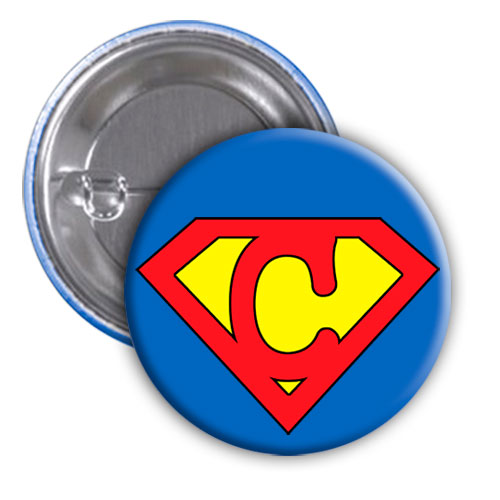 Chapa superhéroe. Súper...C