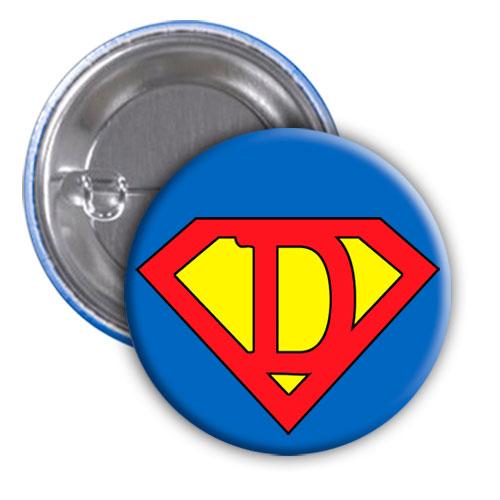 Chapa superhéroe. Súper...D