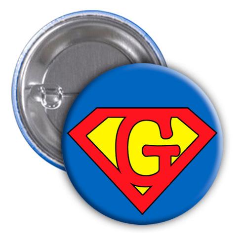 Chapa superhéroe. Súper...G