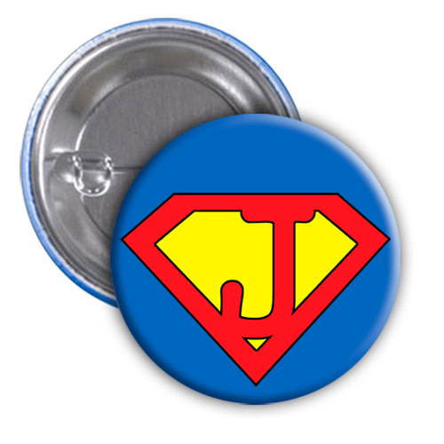 Chapa superhéroe. Súper...J