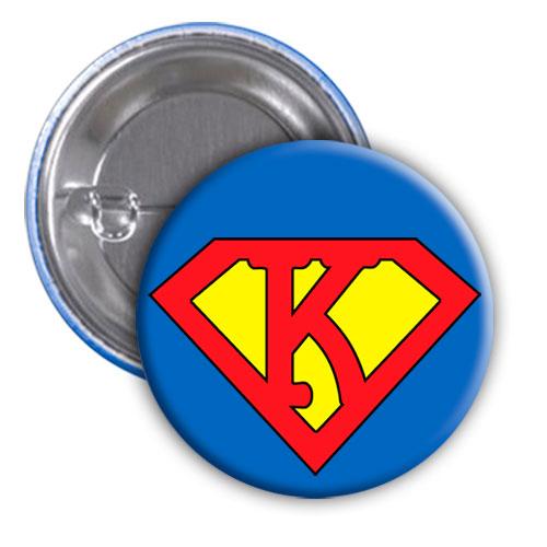 Chapa superhéroe. Súper...K