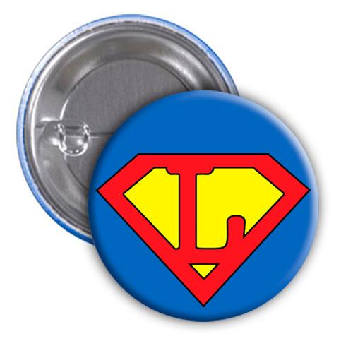 Chapa superhéroe. Súper...L