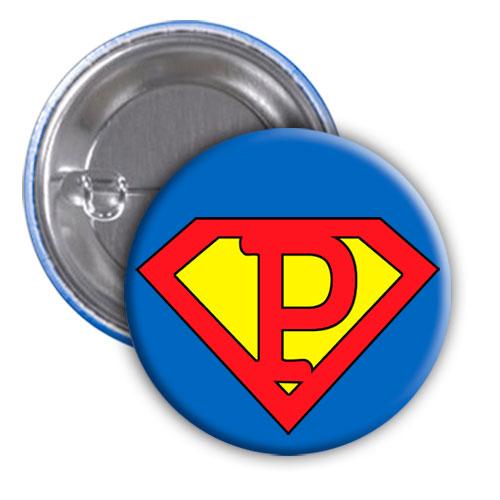 Chapa superhéroe. Súper...P