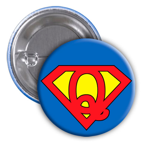 Chapa superhéroe. Súper...Q