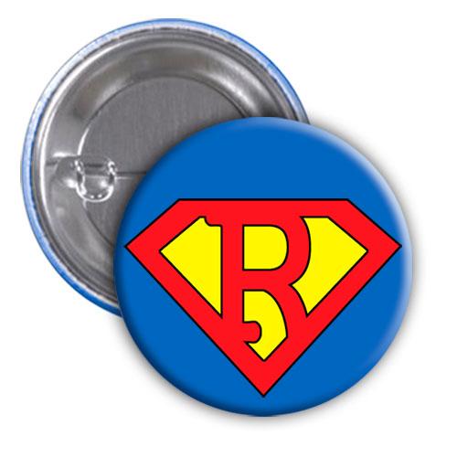 Chapa superhéroe. Súper...R