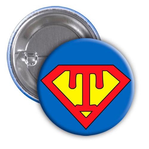 Chapa superhéroe. Súper...T