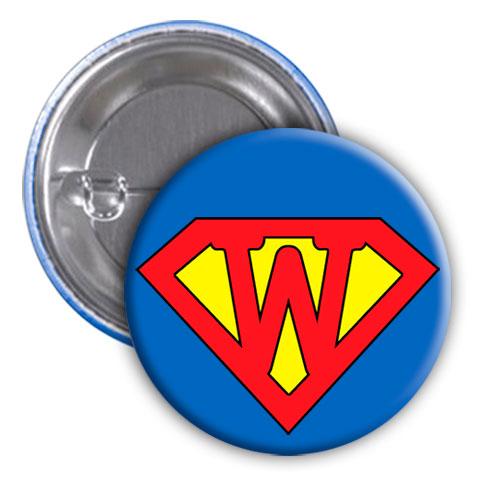 Chapa superhéroe. Súper...W