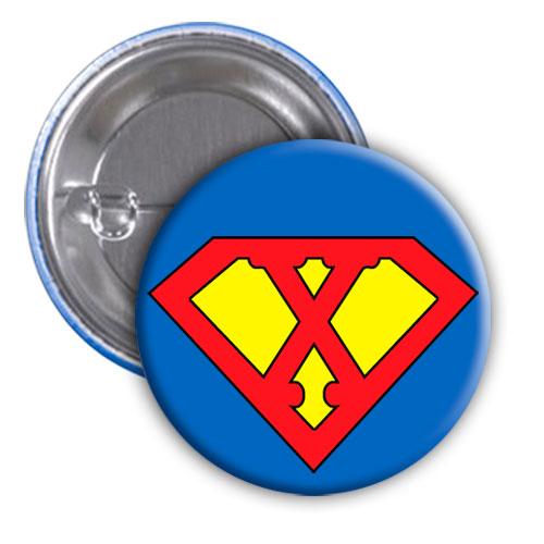 Chapa superhéroe. Súper...X