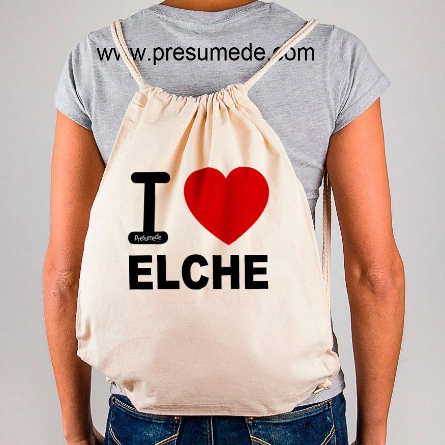 """Mochila Elche """"I Love"""""""