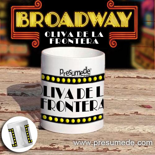 """Taza """"Broadway"""" Oliva de la Frontera"""
