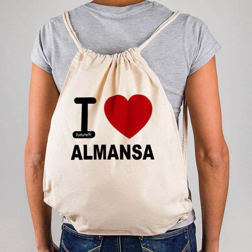 """Mochila Almansa """"I Love"""""""