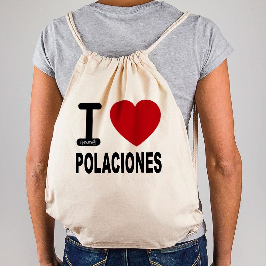 """Mochila Polaciones """"I Love"""""""