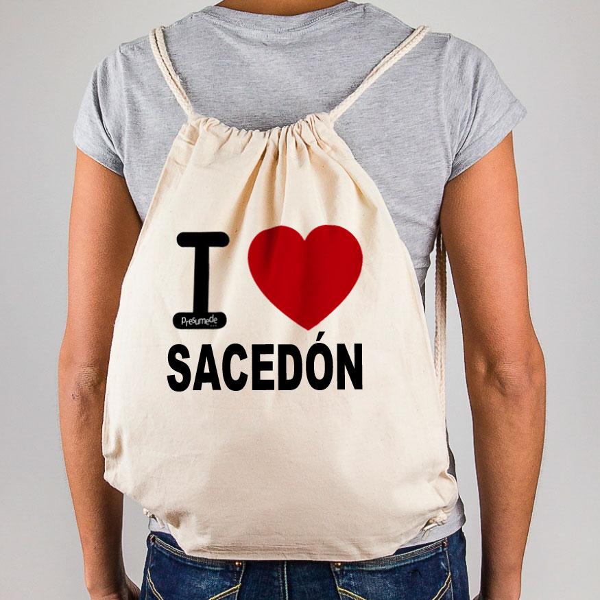 "Mochila Sacedón ""I Love"""
