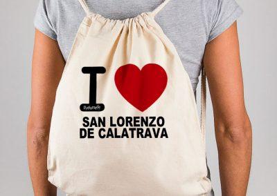 "Mochila ""I love San Lorenzo de Calatrava"""