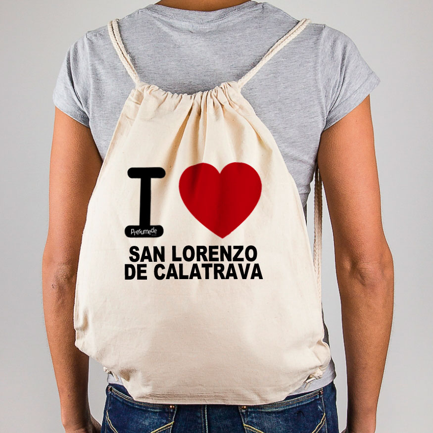 "Mochila San Lorenzo de Calatrava "" I love"""