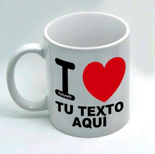 """Taza personalizada """"I Love"""""""