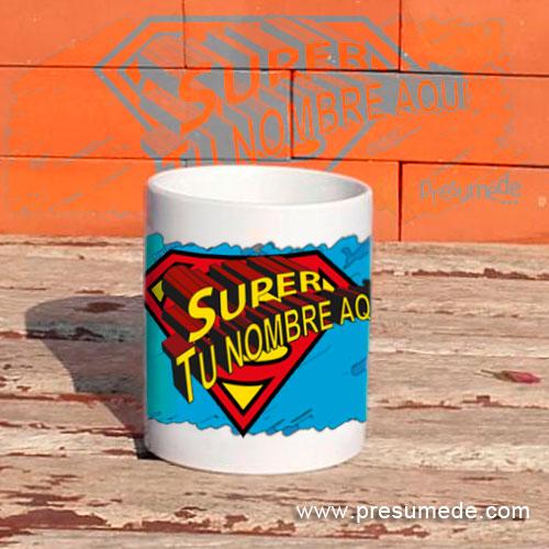 taza personalizada Super