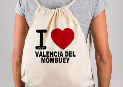 "Mochila ""I love Valencia del Mombuey"""