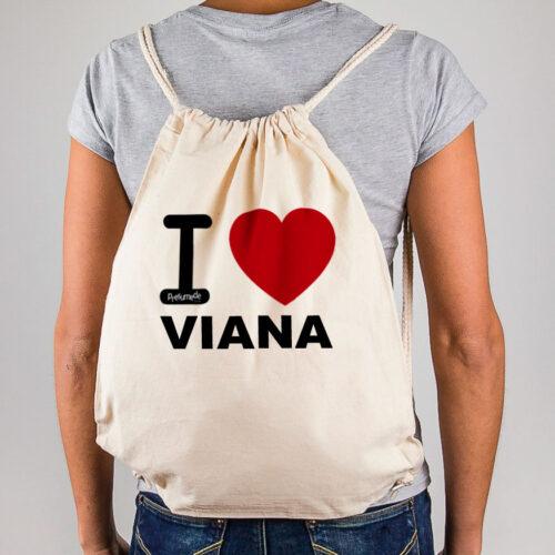 """Mochila Viana """"I Love"""""""