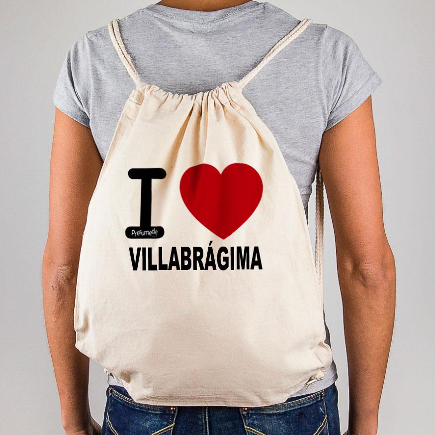 """Mochila Villabrágima """"I Love"""""""