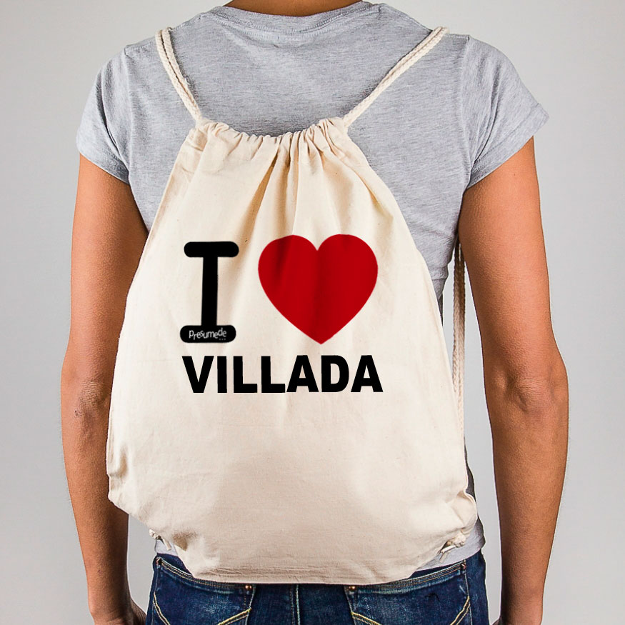 "Mochila Villada ""I Love"""