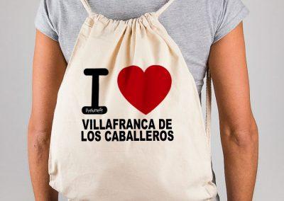Mochila I love Villafranca de los Caballeros