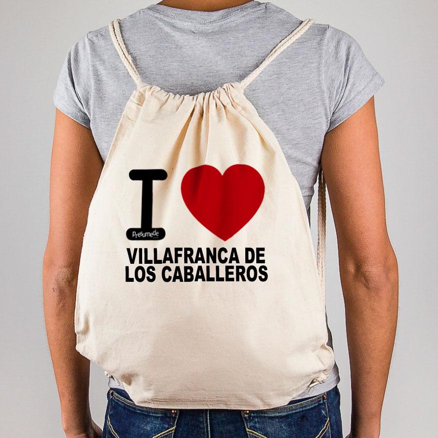 """Mochila Villafranca de los Caballeros """"I Love"""""""