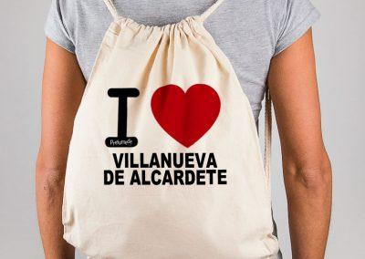 Mochila I love Villanueva de Alcardete