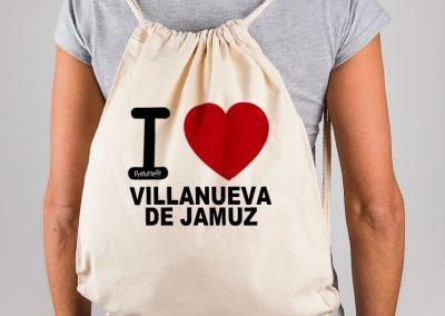 Mochila I love Villanueva de Jamuz
