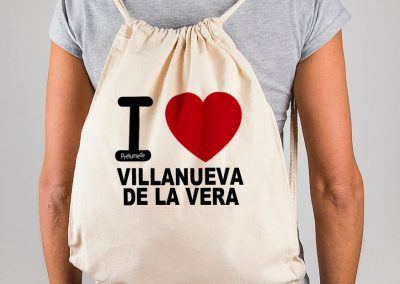 Mochila I love Villanueva de la Vera