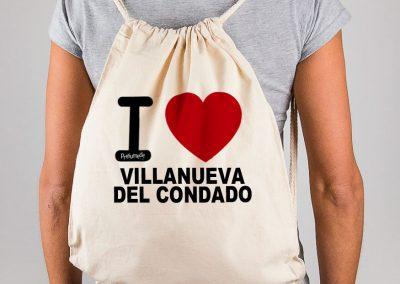 Mochila I love Villanueva del Condado