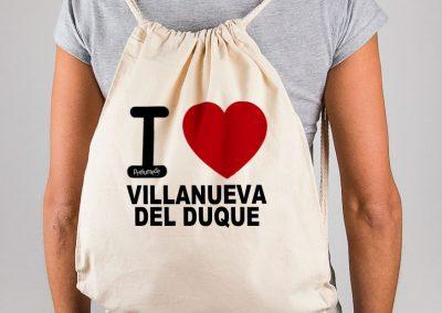 Mochila I love Villanueva del Duque