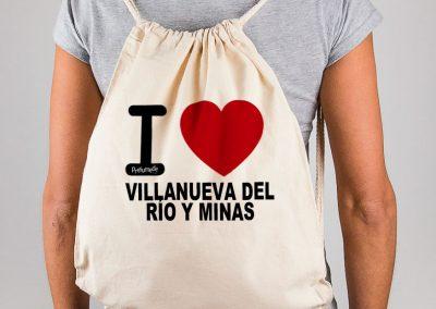 Mochila I love Villanueva del Río y Minas