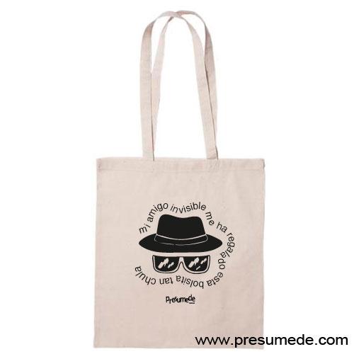 Bolsa de algodón regalo amigo invisible