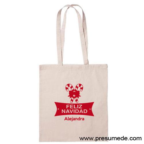 Bolsa de algodón Navidad personalizada