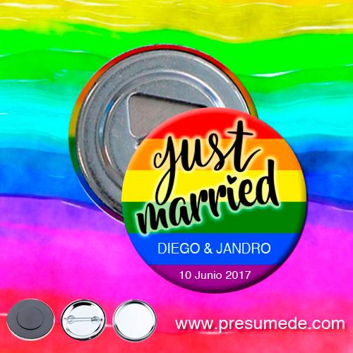 Abridores para boda arcoíris