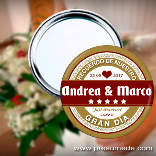 Espejos para boda Mahou