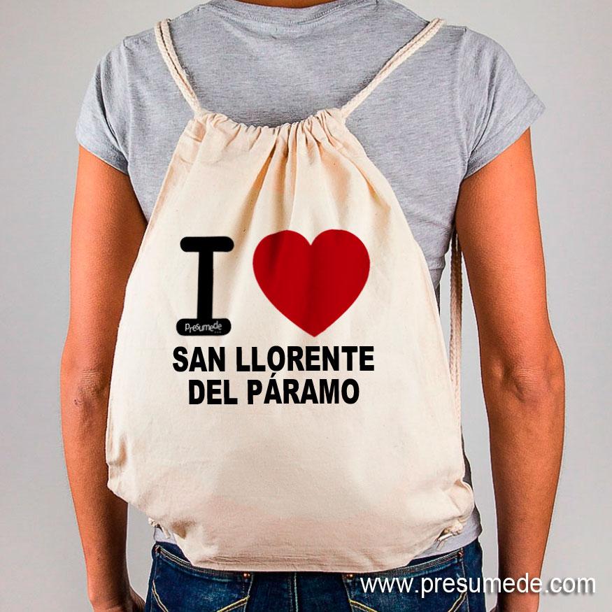 Mochila San Llorente del Páramo I Love
