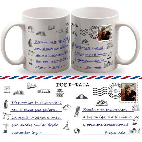Taza postal personalizada