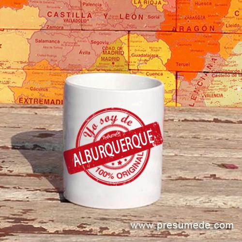 Taza Yo soy de Alburquerque 100% original