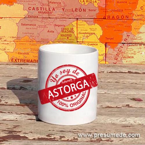 Taza Yo soy de Astorga 100% original