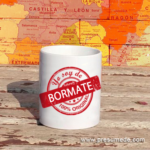 Taza Yo soy de Bormate 100% original