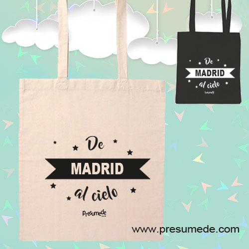 Bolsa de tela De Madrid al cielo.