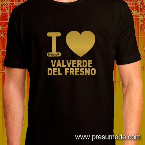 Camiseta I LOVE VALVERDE DEL FRESNO gold