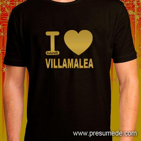Camiseta I LOVE VILLAMALEA gold