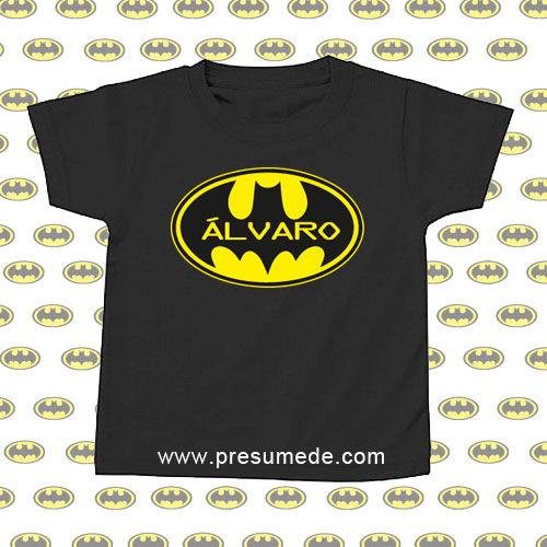5eae52951 Camiseta BATMAN personalizada para niños as - Presumede